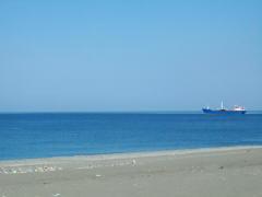 Пляж пос.Цитрусовый около Пицунды.