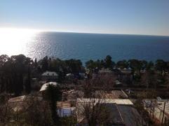 Вид на Чёрное море в Гаграх