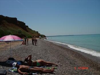 Чёрное море, пляж, Крым, с. Береговое