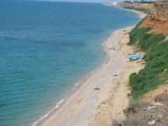 Пляж на Чёрном море в Орловке.