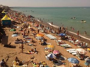 пгт Николаевка. Пляж.