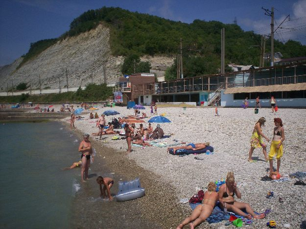 Дедеркой. Пляж.