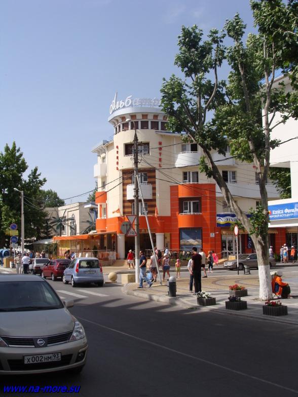 На улице в Анапе.