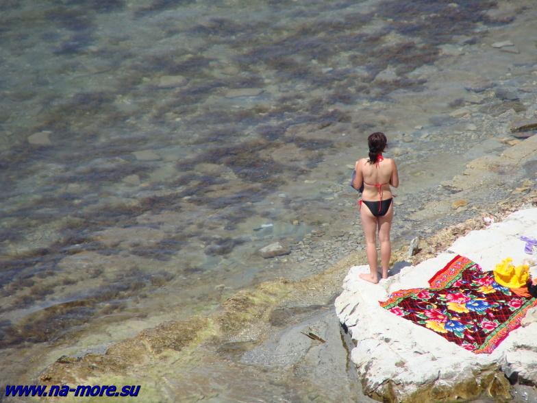 Пляж на круче.