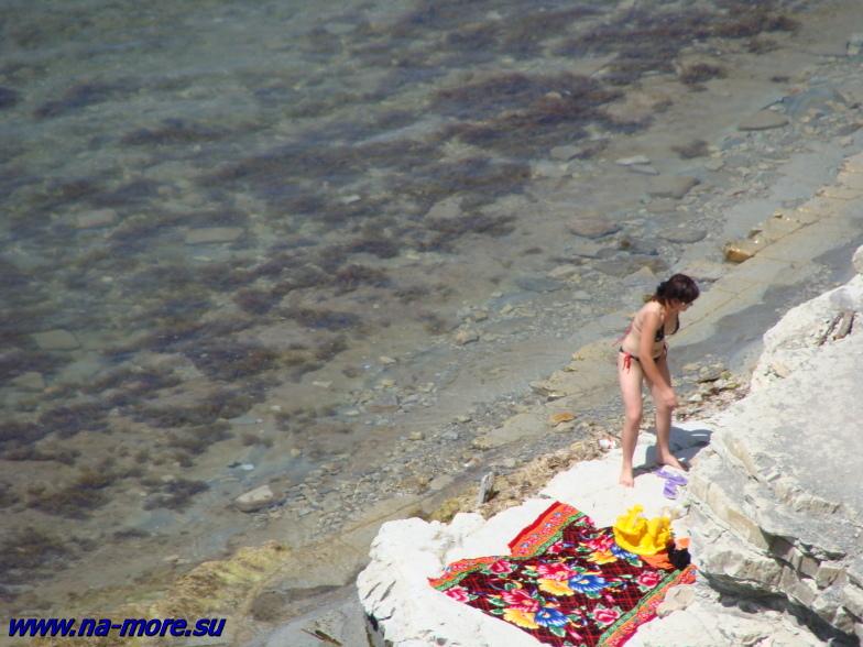 Пляж в Геленджике на круче.