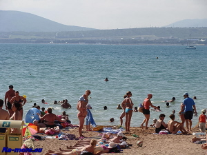 Пляж Геленджика.