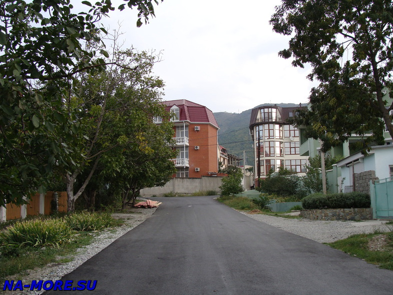 Частная застройка на ул.Горького в Геленджике