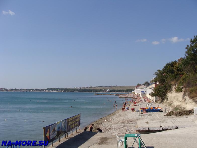 Берег Геленджикской бухты, пляж