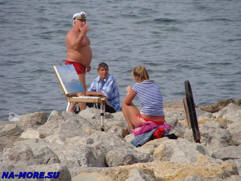 Этюд на берегу Геленджикской бухты