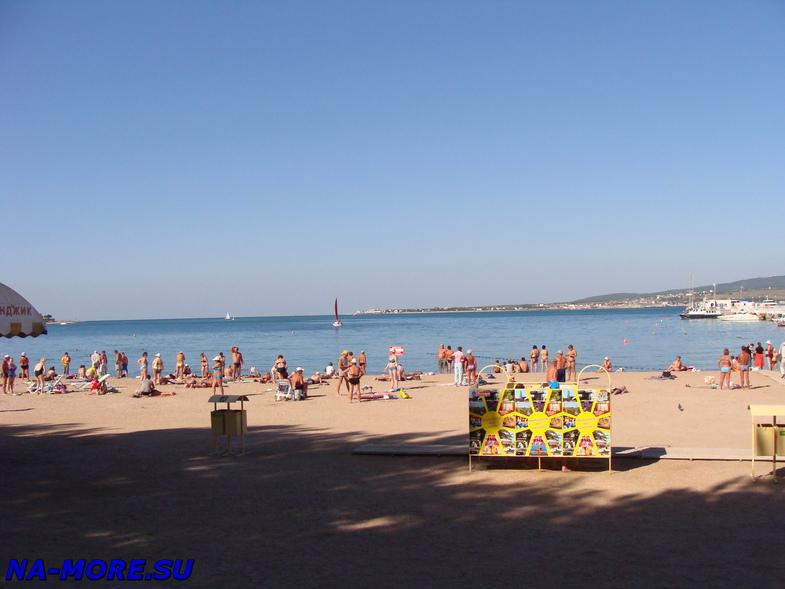 Песчаный пляж Геленджика