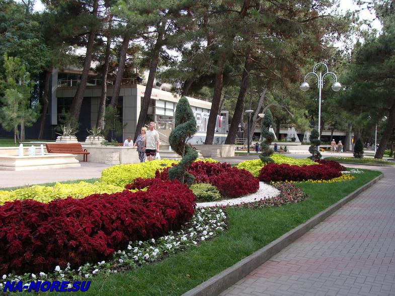 Лермонтовский бульвар в Геленджике