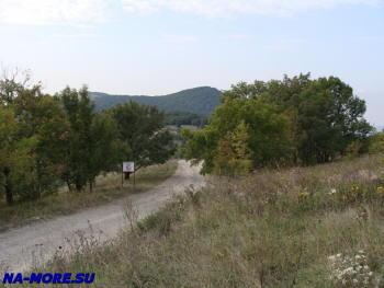 Дорога в горах Западного Кавказа