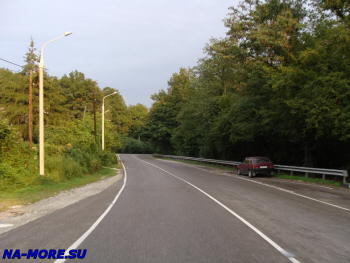 Новороссийско-Сухумское шоссе у Геленджика