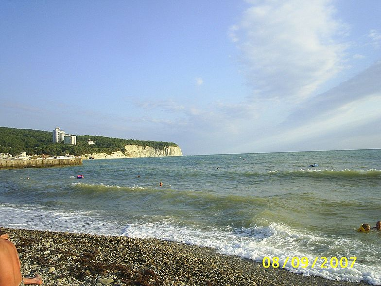 На пляже в Дивноморском
