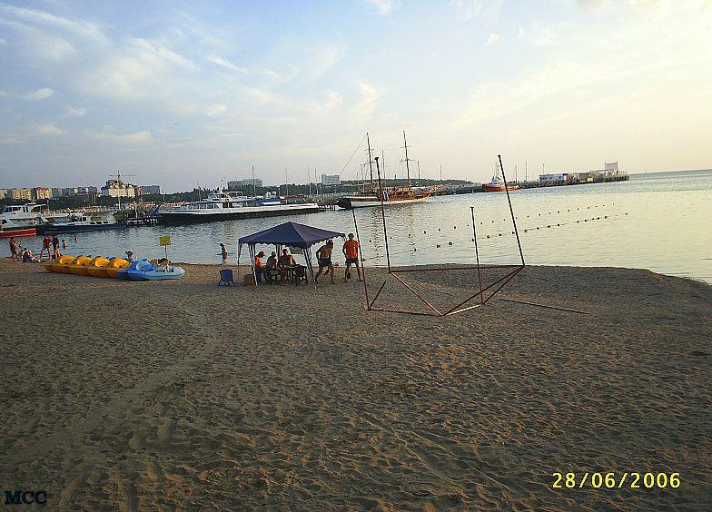 Вечером на пляже Геленджика.