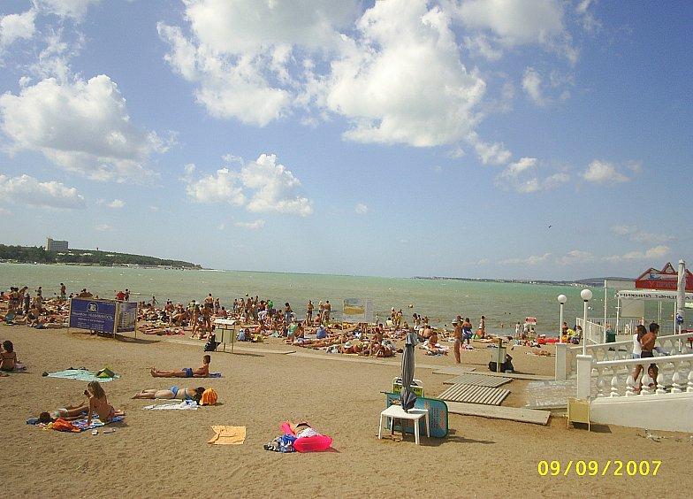 Центральный пляж Геленджика. Чёрное море. Black sea.