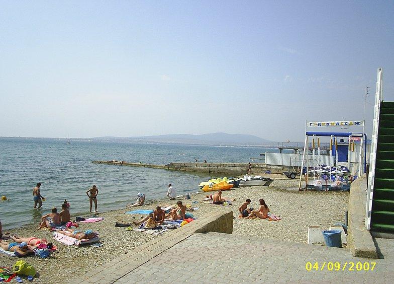 Пляж в районе пансионата ПРИМОРЬЕ. Чёрное море. Black sea.