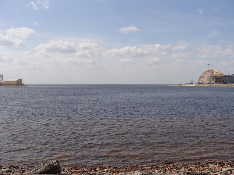 Тут начинается Финский залив.
