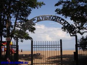 Вход на пляж Дубковский в Сестрорецке