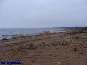 Пляж Дубковский в Сестрорецке поздней осенью