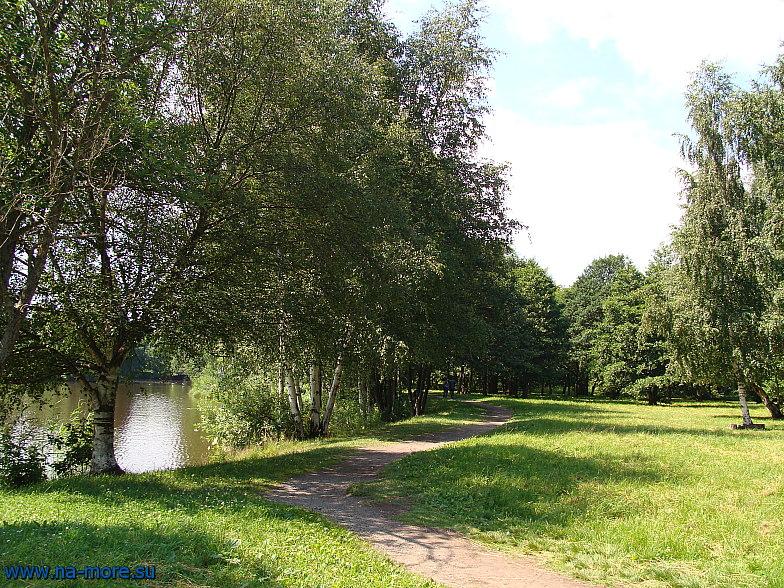 Около лодочной станции в парке Дубки в Сестрорецке