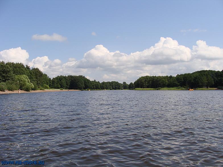Прямо идёт водосливной канал к озеру Разлив в Сестрорецке.