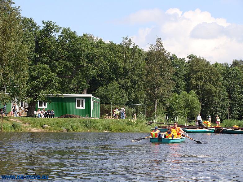 Лодочная станция в парке Дубки Сестрорецка. Финский залив.