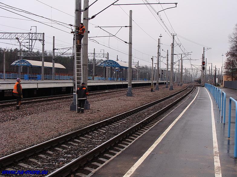 Железнодорожные пути на станции Зеленогорск