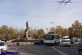 Севастопольский троллейбус в центре города