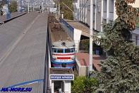 Электропоезд на вокзале Севастополя
