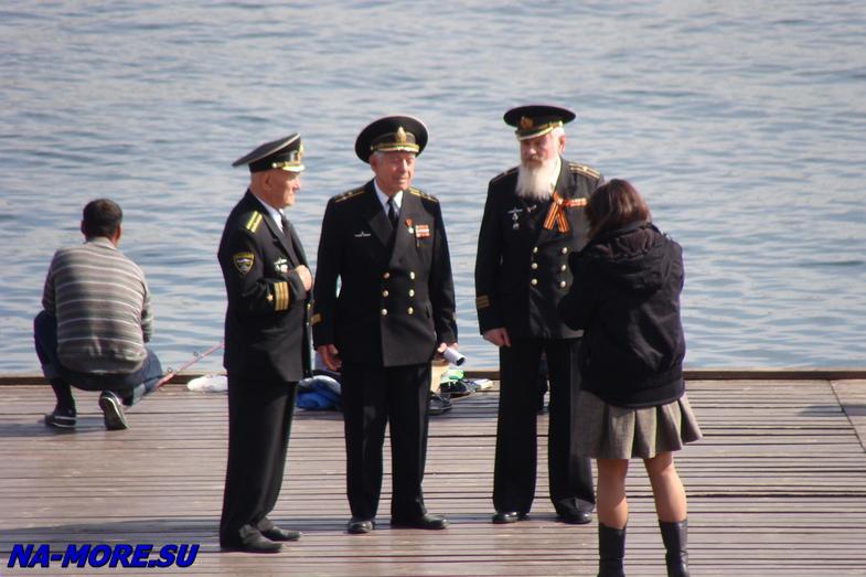 На Графской пристани Севастополя.