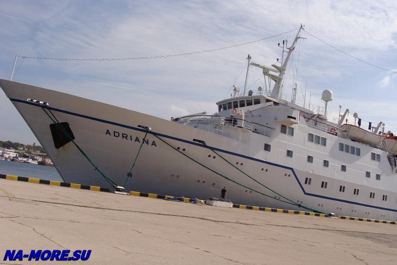 В порту Севастополя.