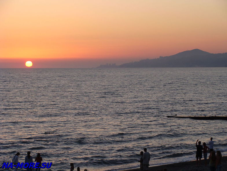 Чёрное море. Закат.
