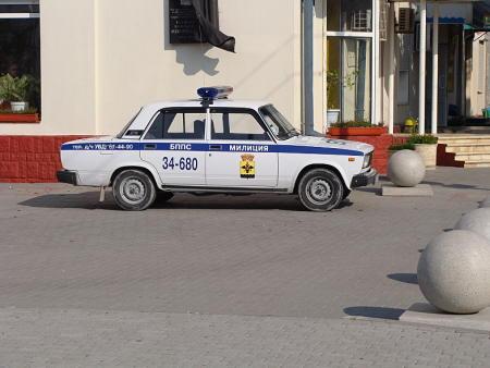 Патрульная машина милиции в Новороссийске