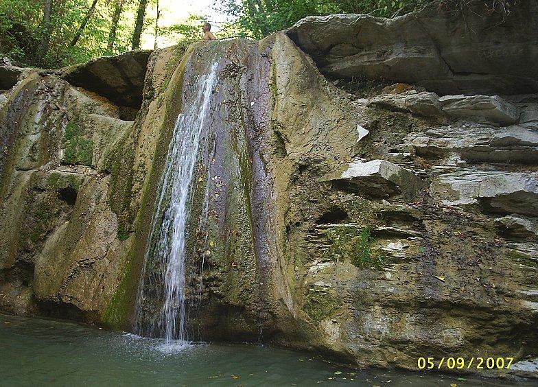 В горах Кавказа. Река Жане.Водопад.