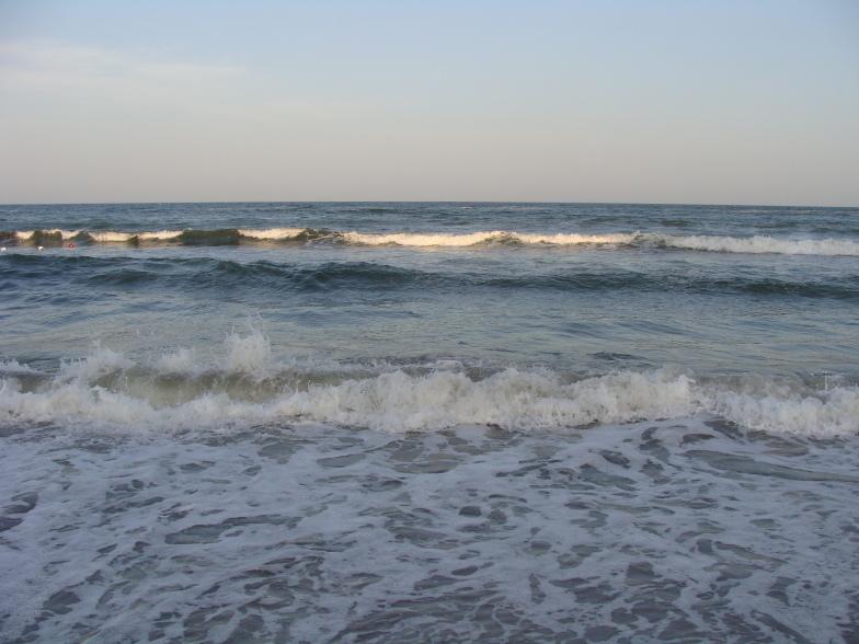 Чёрное море. Пляж Аркадия в Одессе.