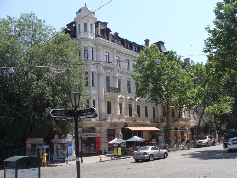 Одесса. Угол Дерибасовской и Решельевской улицы.