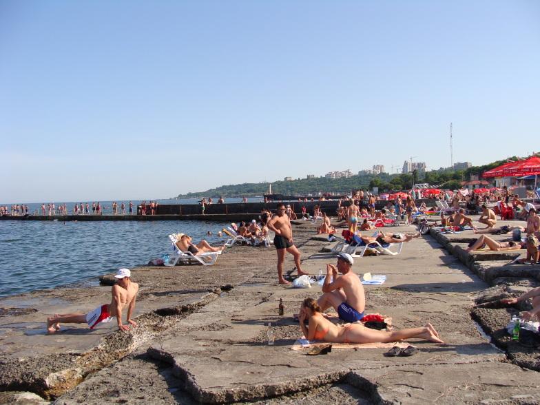 Пляж Ланжерон в Одессе
