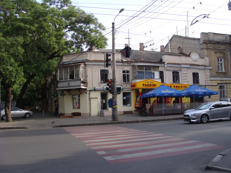 На одесской улице.