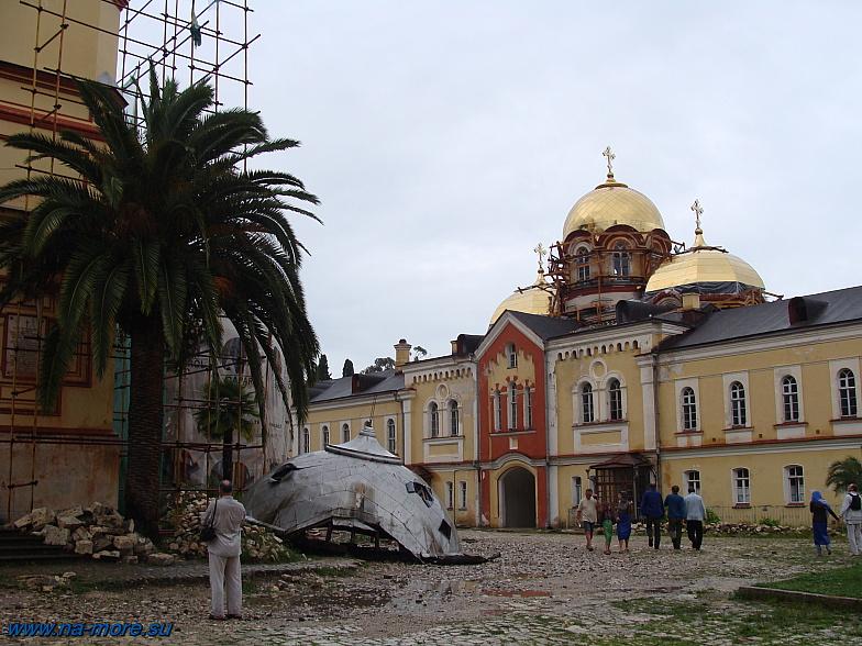 Ремонт в Новоафонском монастыре.