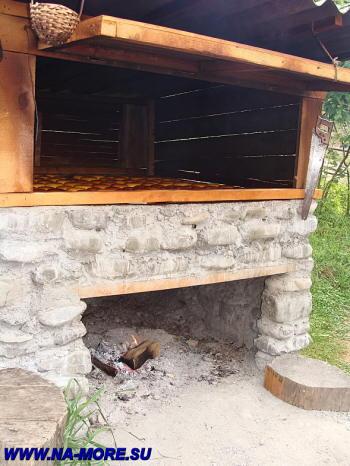 Коптильня для сыра в ауле Большой Кичмай