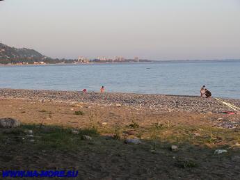 Гагра. Берег Чёрного моря.