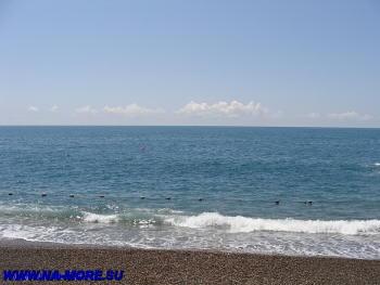 Чёрное море. Пляж в Адлере.