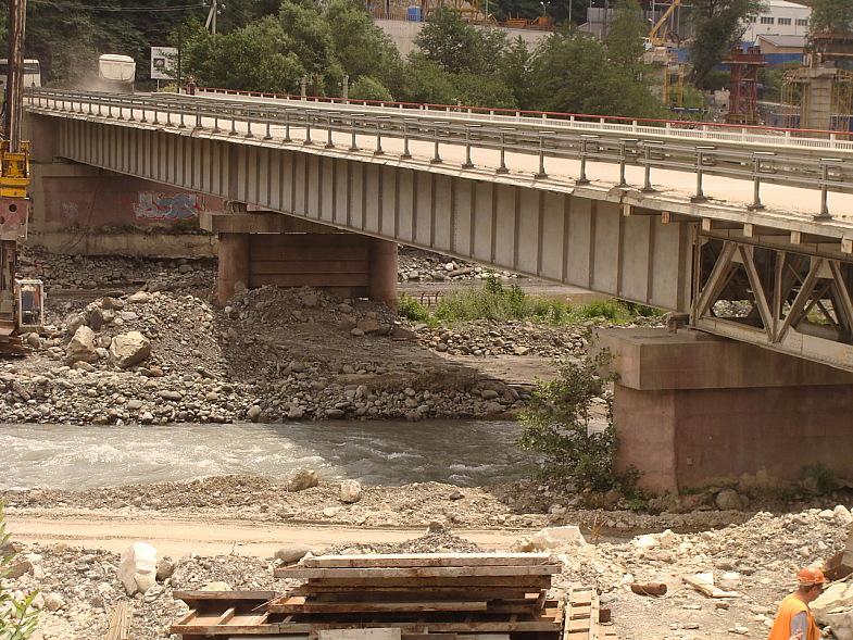 Технологический мост через реку Мзымта