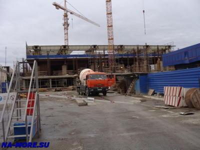 Строительство вокзала Адлера 2011 осень