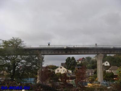 Железная дорога в аэропорт Сочи ( Адлер ). Строительство эстакады.