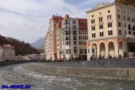 Река Мзымта, новые берега в курорте Роза Хутор