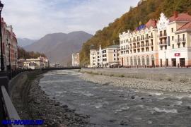 Река Мзымта, горнолыжный курорт Роза Хутор