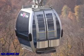 Кабинка подъёмника на хребет Аибга