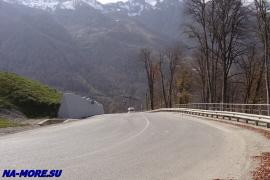 шоссе на хребет Аибга к олимпийским объектам